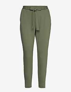 AnettCR Pants - slim fit housut - oil green