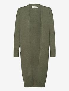 DelaCR Cardigan - swetry rozpinane - oil green melange