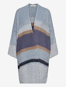 SinaCR Cardigan - swetry rozpinane - blue beige stripe