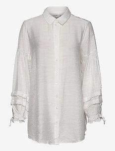 AvieCR Shirt - långärmade skjortor - snow white