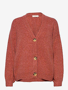 AnghaCR OZ Knit Cardigan - swetry rozpinane - etruscan red melange