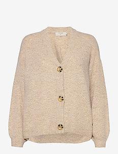 AnghaCR OZ Knit Cardigan - swetry rozpinane - oat melange
