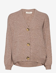 AnghaCR OZ Knit Cardigan - swetry rozpinane - taupe gray melange