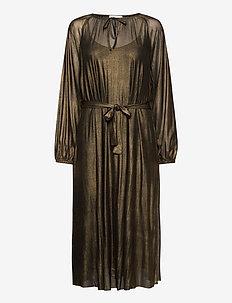 MileyCR Long Dress - midi kjoler - gold mesh