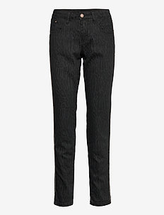 LotteCR Printed Twill Pants - Coco - slim jeans - grey toned tiger