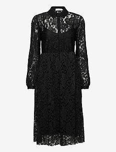 AliciaCR Lace Dress - skjortekjoler - pitch black