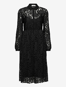 AliciaCR Lace Dress - blousejurken - pitch black