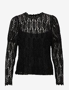 ViviCR LS T-shirt - långärmade toppar - pitch black