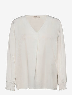FengCR Blouse - long sleeved blouses - snow white