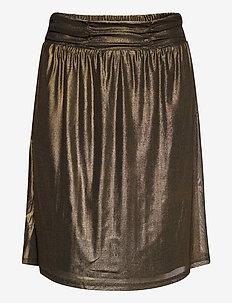 MileyCR Skirt - spódnice do kolan i midi - gold mesh
