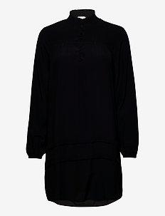SigneCR Mini Dress - skjortekjoler - pitch black
