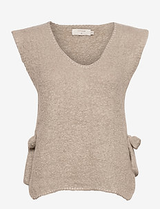 MaggieCR Sleeveless Pullover - strikveste - feather gray