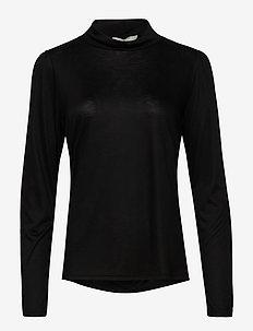 ViolaCR Turtleneck T-shirt - langærmede toppe - pitch black