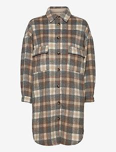 TaraCR OZ Shirt Jacket - overshirts - feather gray check