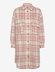 TaraCR OZ Shirt Jacket - overshirts - lilac check