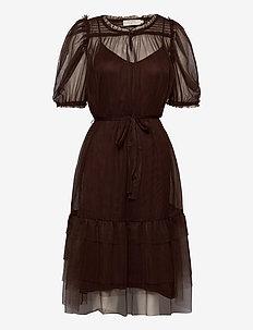DianaCR Dress - midiklänningar - dark brown