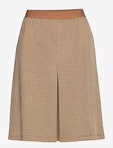 AnettCR Skirt - spódnice do kolan i midi - taupe gray check