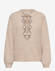 laraCR Knit Pullover - pulls - oat melange