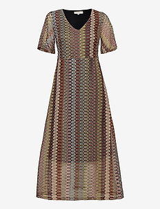 CRFie Dress - robes longues - zigzag ginger bread
