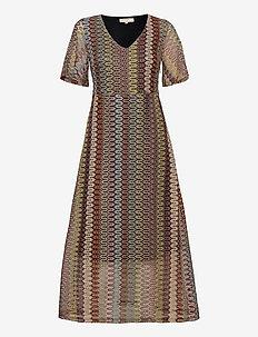 CRFie Dress - maxi kjoler - zigzag ginger bread
