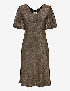 CRMinu Short Dress - midi jurken - gold lurex
