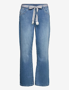 CRFie Flared Jeans - Coco Fit 7/8 - utsvängda jeans - blue denim