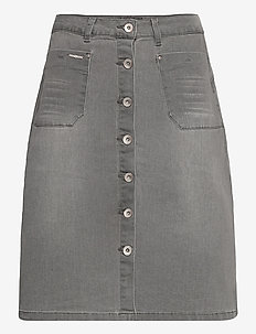 CRLone Skirt - jeansowe spódnice - grey denim