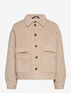 CRCarla Short Jacket - faux fur - sesame melange
