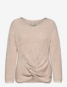 CRAnnolina Knit Pullover - swetry - sesame white melange