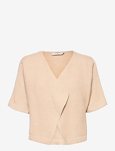 CRSillar Knit Bolero - swetry rozpinane - sesame melange