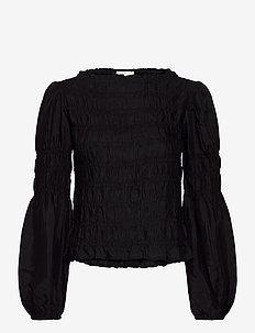 CRHenva Blouse - blouses med lange mouwen - pitch black