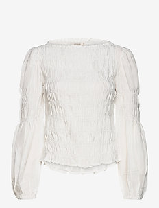 CRHenva Blouse - blouses med lange mouwen - snow white
