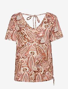 CRLulla T-shirt - t-shirts - rose brown paisley