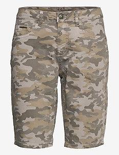 CRAmalie Shorts - Baiily Fit - jeansowe szorty - grey camouflage