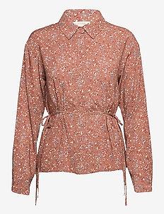 CRHany Flower shirt - koszule z długimi rękawami - rose brown flower mix