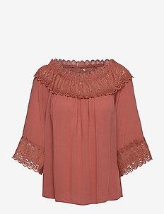 CRBea Lace Blouse - bluzki z długimi rękawami - aragon