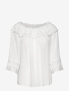 CRBea Lace Blouse - bluzki z długimi rękawami - snow white