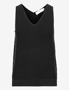 CRSillar Knit Top - kamizelki z dzianiny - pitch black