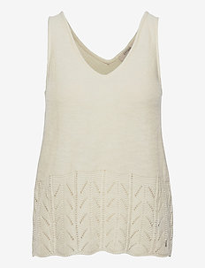 CRPina Knit Top - knitted tops - snow white