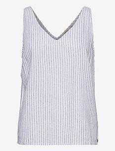CRVenta top - bluzki bez rękawów - blue stripe