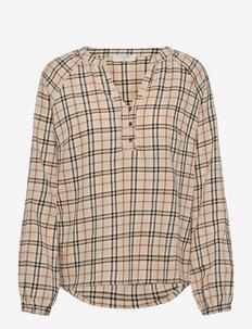 CRDallas blouse - pikkade varrukatega pluusid - smoke grey check