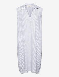 CRVenta Sleeveless Dress - sukienki letnie - blue stripe