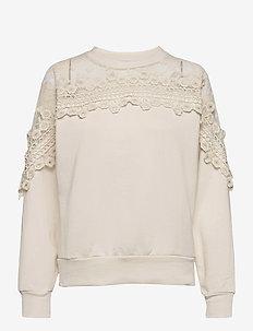 CRKalanie Sweatshirt - swetry - eggnog