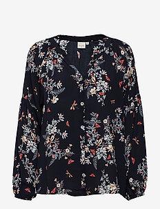 Bella Shirt - bluzki z długimi rękawami - pitch black
