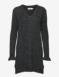 Kaitlyn Tunic - strikkjoler - dark grey melange