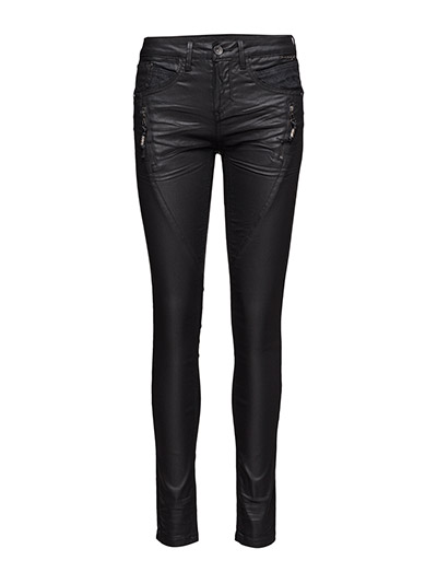 Bibiana Coated Jeans - PITCH BLACK