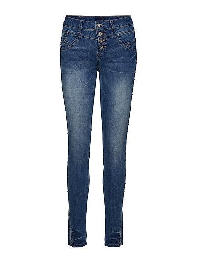 Stinna Studs jeans - Shape fit - CLEAR BLUE DENIM