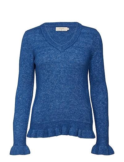 Kaitlyn Flounce Pullover - GALAXY BLUE