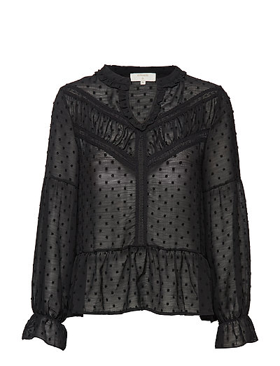 Fione Blouse - PITCH BLACK