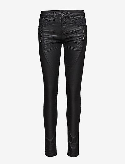 Bibiana Coated Jeans - skinny jeans - pitch black